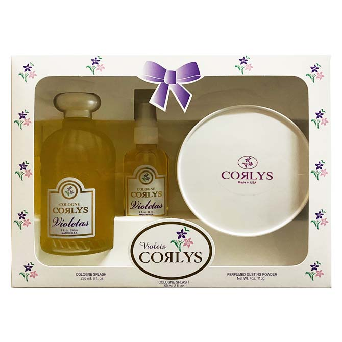 CORLYS SET 2 COLOGNES WITH TALCUM