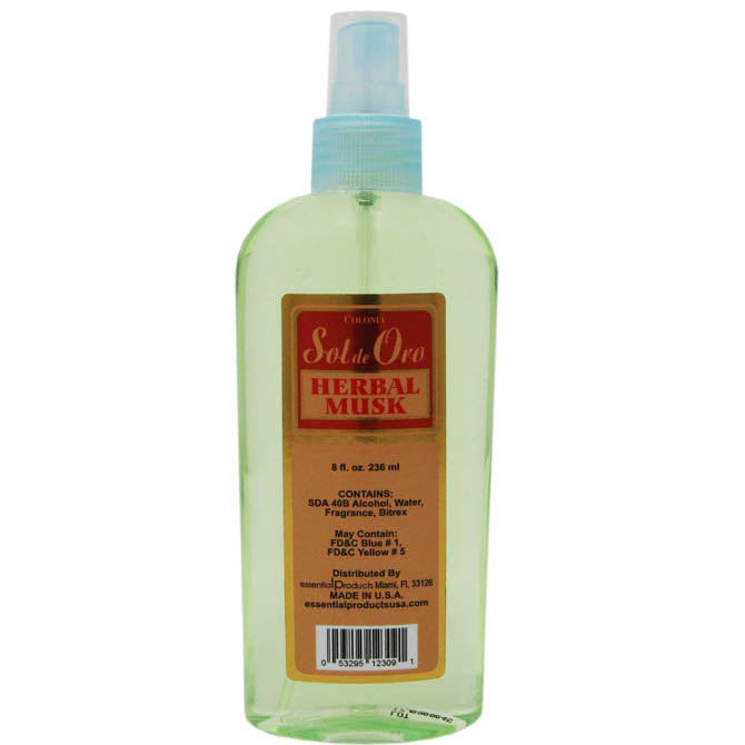 SOL DE ORO HERBAL MUSK 8oz