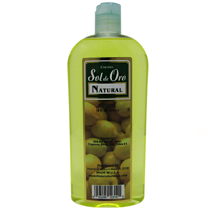 SOL DE ORO NATURAL COLOGNE 16oz