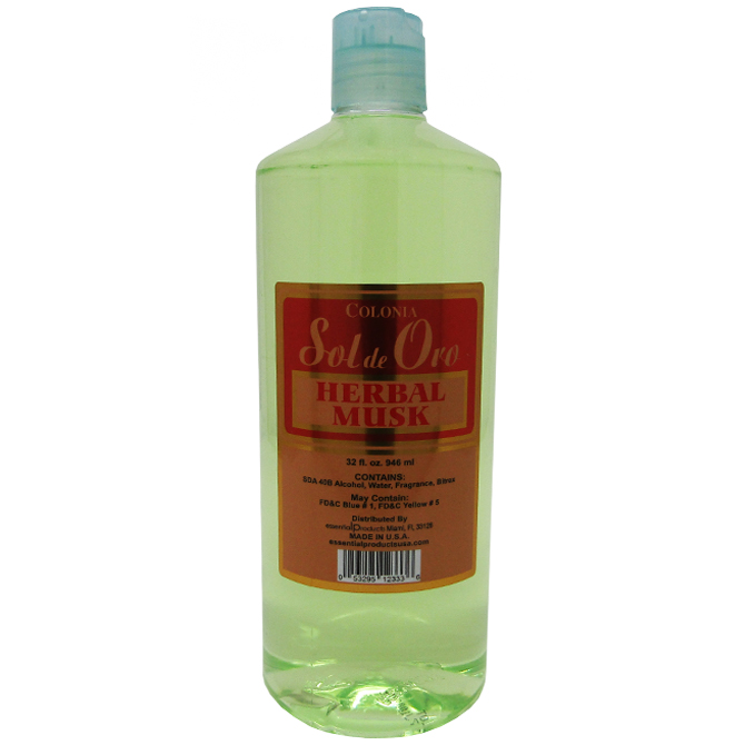 SOL DE ORO HERBAL MUSK COLOGNE 32oz