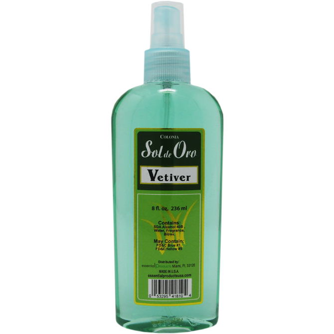 SOL DE ORO VETIVER COLOGNE 8oz